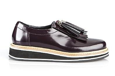 Baldinini 6110 Bordo Leather Italian Designer Women Shoes (36EU 6US) 30d758a5f