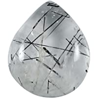 Gems&JewelsHub 18.90CTS Naturale splendido Design Quarzo rutilato cabochon Pera Gemma Sciolto