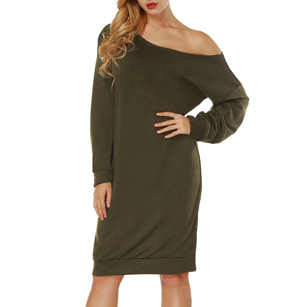 Slash Neck Dresses For Women, Long Sleeves Dresses For Women Cheap Evening Party Wedding Buttocks Mini Dress