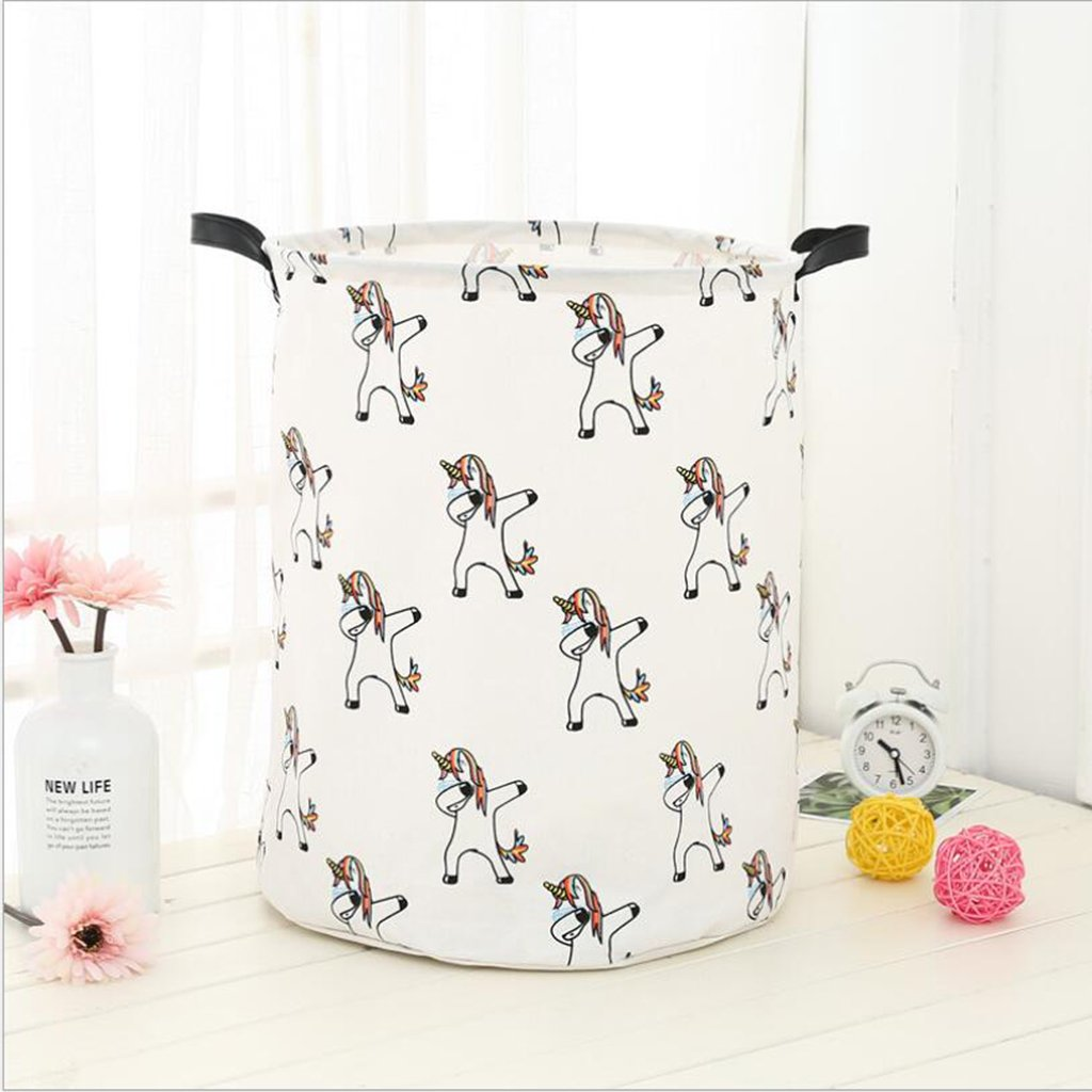 MagiDeal Cute Animal Cloth Laundry Storage Basket Bedroom Office Toy Clothes Sundries - Multiple Unicorn by Unknown (Image #8)