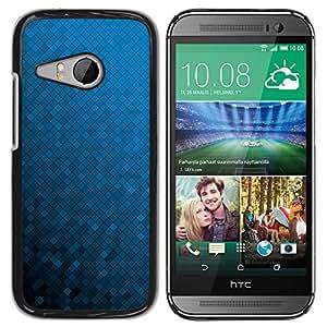 KOKO CASE / HTC ONE MINI 2 / M8 MINI / fondo de pantalla azul degradado de color al azar / Delgado Negro Plástico caso cubierta Shell Armor Funda Case Cover