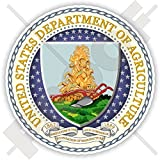 """US DEPARTMENT OF AGRICULTURE Seal USDA United States of America USA, American 90mm (3.5"""") Vinyl Sticker, Decal"""