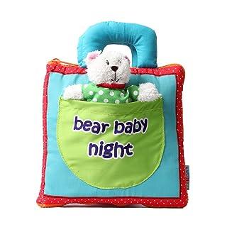 Toyvian I primi libri di stoffa non tossici giocattoli morbidi giocattoli sviluppo dell'intelligenza educazione precoce per l'infante (orso)