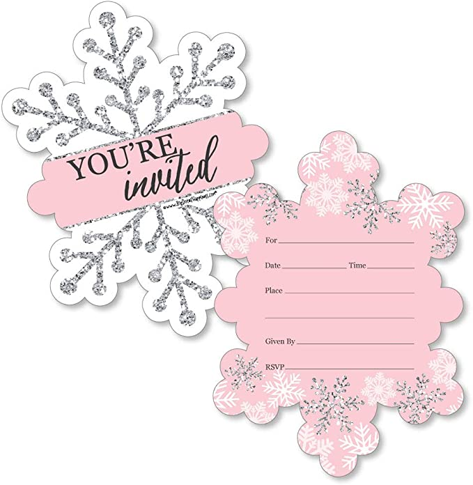 Princess Shower Set of 12 White Snowflake /'Thanks Snow Much For Coming!/' Birthday Party Favor Tags White /& Light Blue Winter Wedding