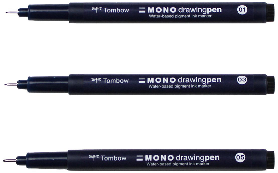 Tombow 66403 Mono Drawing Pen (3), 3-Pack, 3 Piece