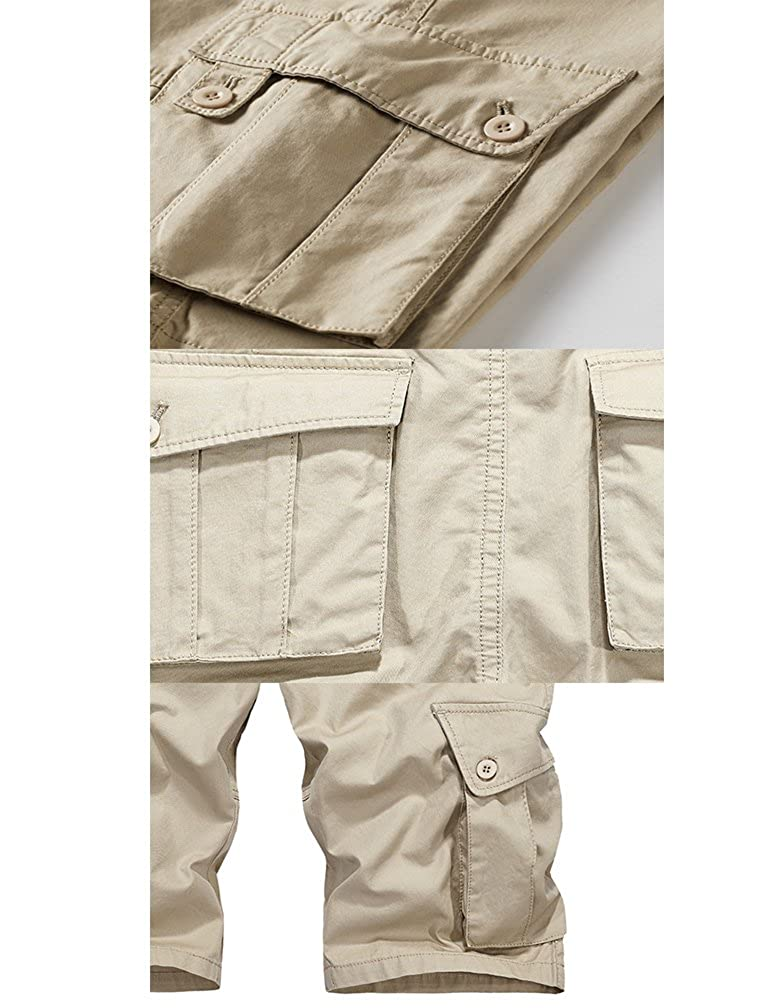 Vogstyle Mens Twill Cargo Shorts Summer Canvas Relaxed Fit Lightweight Casual Shorts VGS888
