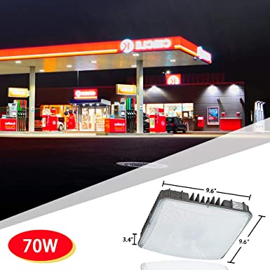 70W LED Canopy Lights IP65 600W HID//MH Equivalent Gas Station Lighting UL/&DLC