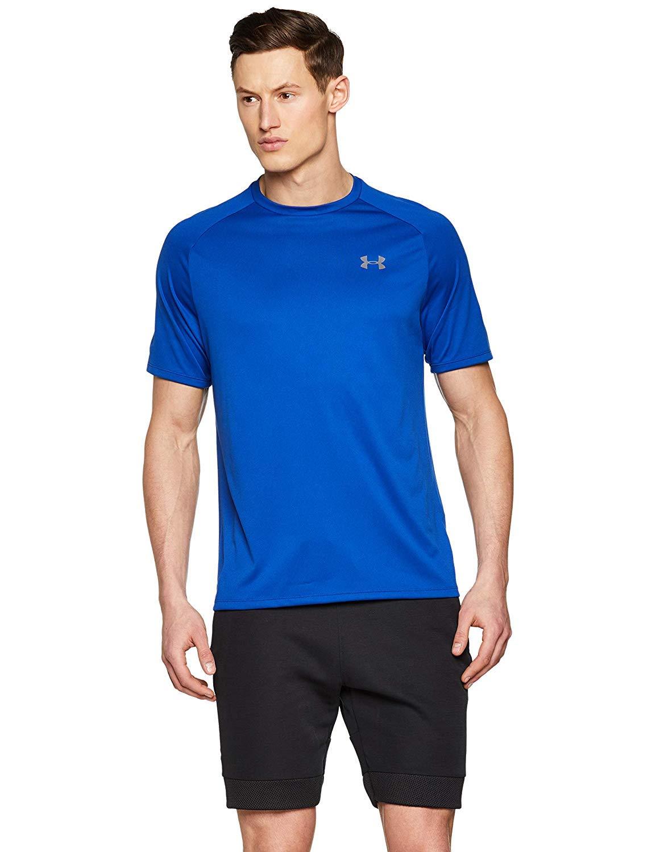 Under Armour メンズ UA Tech 半袖Tシャツ 2.0 ロイヤル/グラファイト L-T   B07HJDGNSY