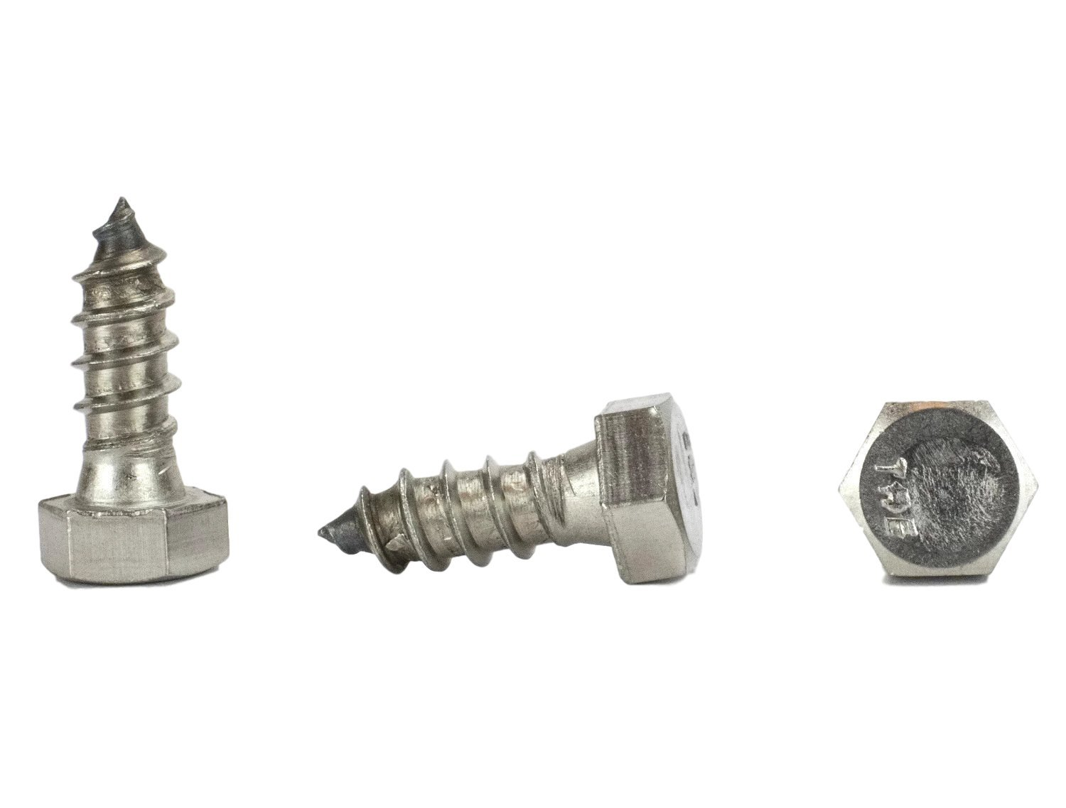 Stainless 3/8 x 1'' Hex Lag Screw (1'' To 5'' Lengths Available in Listing), 18-8 Stainless Steel, 25 pieces (3/8 x 1'')