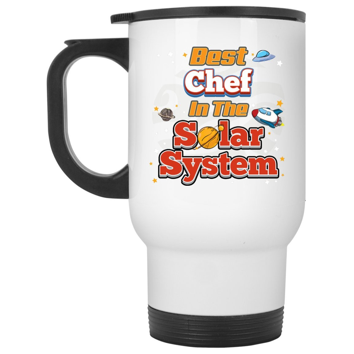 Chef Mug-Best Chef In The Solar System-Chef Travel Mug Chef Gifts