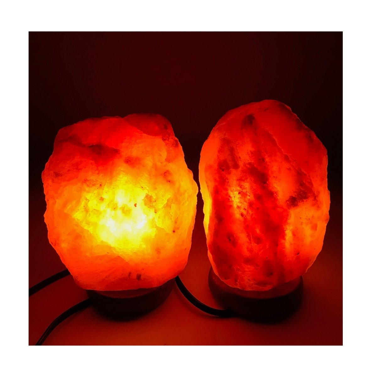 2x Himalaya Natural Handcraft Rough Raw Crystal Salt Lamp,7.5''-8''Tall, X044, Exact Item Delivered