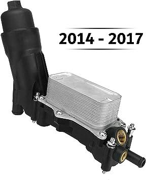 Engine Oil Filter Housing Cooler Adapter for 2014 2015 2016 2017 Jeep Wrangler Grand Cherokee Dodge Avenger Challenger Charger Durango Grand Caravan Journey Chrysler 200 300 Town /& Country Ram 3.6L