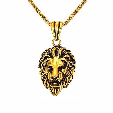 EuroLux Lion Boss Necklace Women Men Jewelry Wholesale Trendy Platinum 18k Real  Gold Plated Pendant (Gold) CA0012  44838c12ea