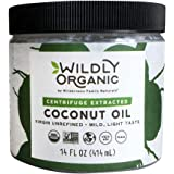 Wildly Organic Centrifuge Extracted Coconut Oil - Virgin Unrefined (Same as Extra Virgin), Raw, Non-GMO, Vegan - 14 FL OZ