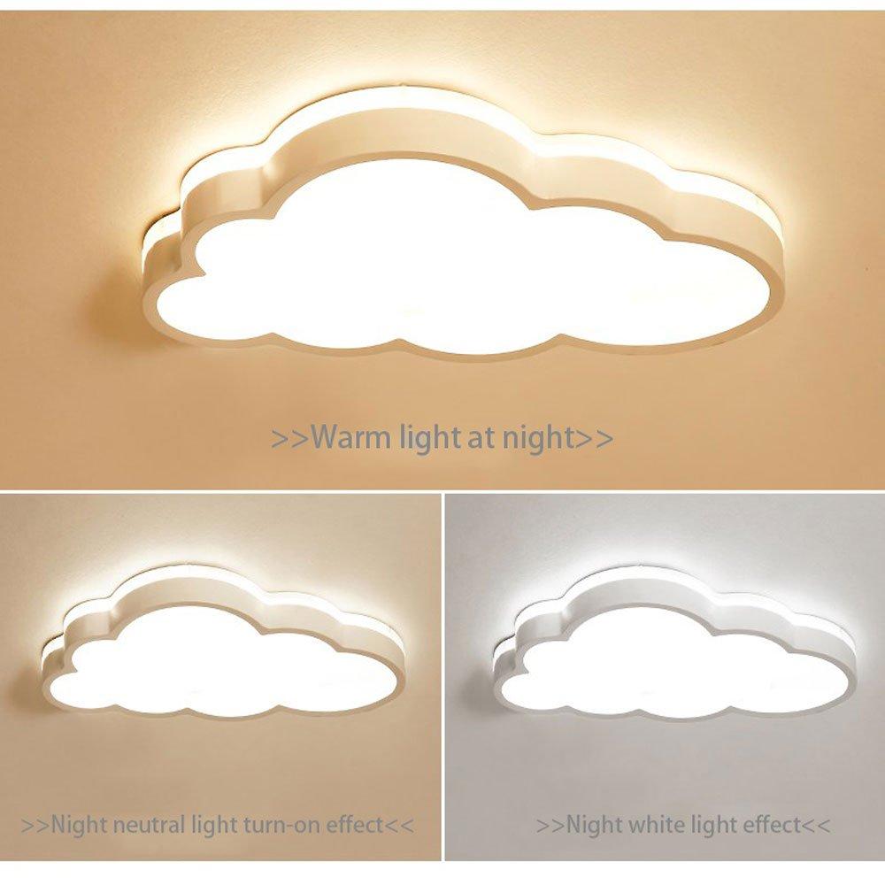 Color : Rosa-Stufenloses Dimmen MyLjp Deckenlampe Ultra-d/ünnen Kinderzimmer Lampe LED Schlafzimmer Lampe Wolke Deckenlampen Warme Junge M/ädchen Wohnzimmer Lampe Cartoon Moderne Lampe