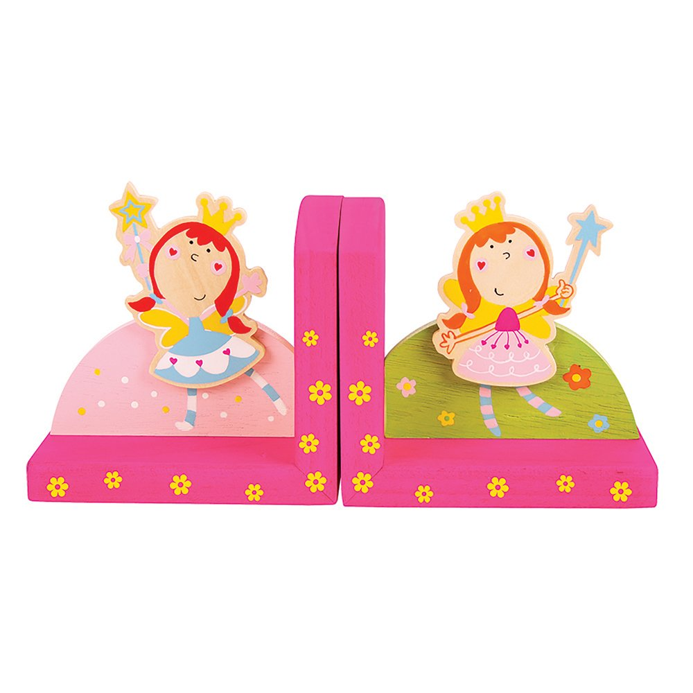 Bigjigs Toys Wooden Fairy Themed Bookends - Children's Bedroom Accessories