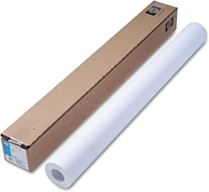 HP C6020B Coated Paper, 24 lb, 36-Inch x150-Ft, 90 GE/101 ISO, BR White