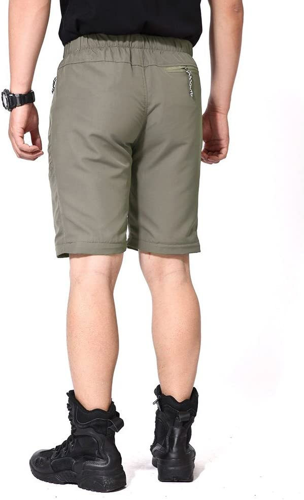 TACVASEN Quick Dry Mens UV Protection Zip Off Convertible Walking Hiking Trousers with Adjustable Buckle