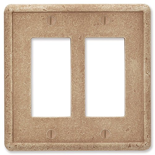 Questech Noche Tumbled Textured Wall Plate/Switch Plate/Outlet Cover (Double Decorator GFCI)