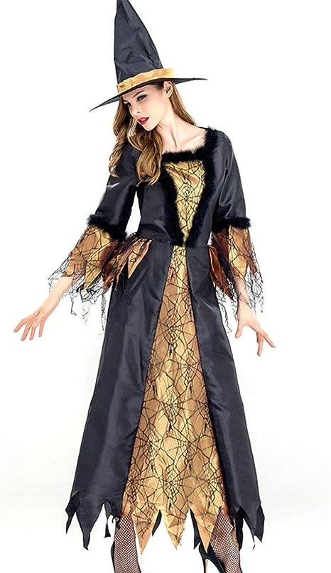 GYH Bruja De Halloween Señoras Vestido Classic Disfraz Cosplay ...