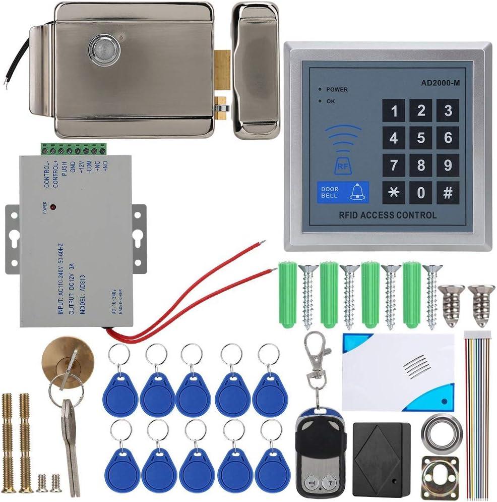 10 cl/és Garsent Kit de syst/ème de contr/ôle dacc/ès de Porte t/él/écommande Clavier dacc/ès au Mot de Passe dacc/ès RFID pour Mot de Passe AD-2000M AD-2000M