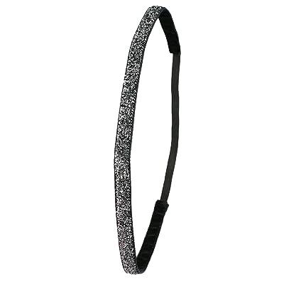 Ivybands Fabrication noir special super fin de cheveux avec strass