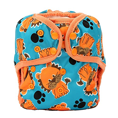 One Size Cloth Diaper Cover Snap With Double Gusset (Lion)