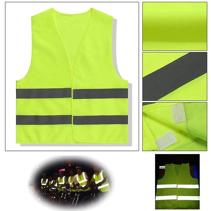Xuxuou 1 St/ück Warnwesten Reflektierende Sicherheitsweste Gelb 360 Grad Stark Sichtbar Hygieneweste f/ür reflektierende Kleidung