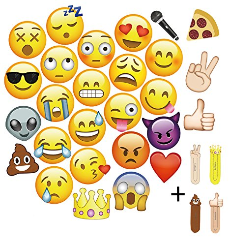 Mot Global Emoji Photo Booth Props   27 Pieces Party Kits Photo Booth Props For Wedding Birthdays Reunions  Diameter Up To 7 87  To Fits Face