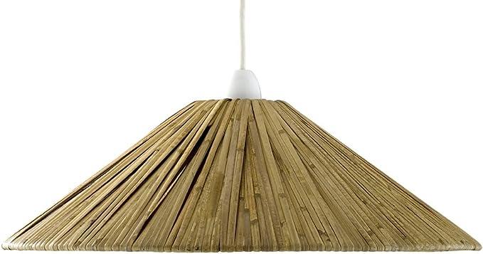 Pantalla para lámpara de techo colgante (rafia): Amazon.es: Iluminación