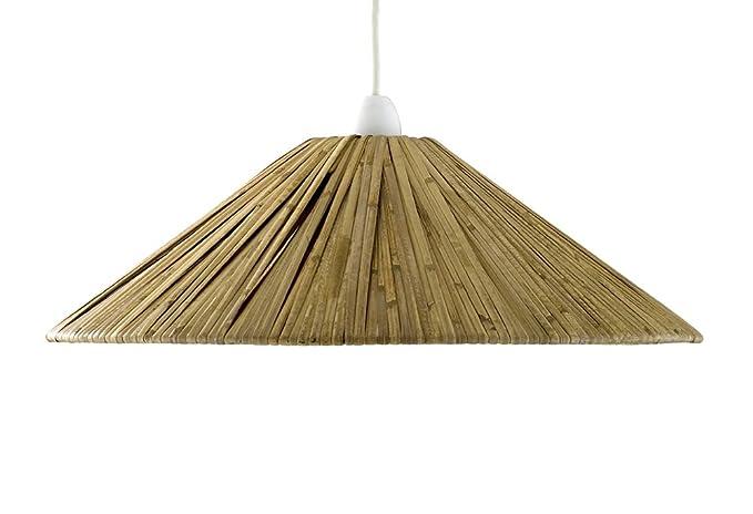 Pantalla para lámpara de techo colgante (rafia): Amazon.es ...
