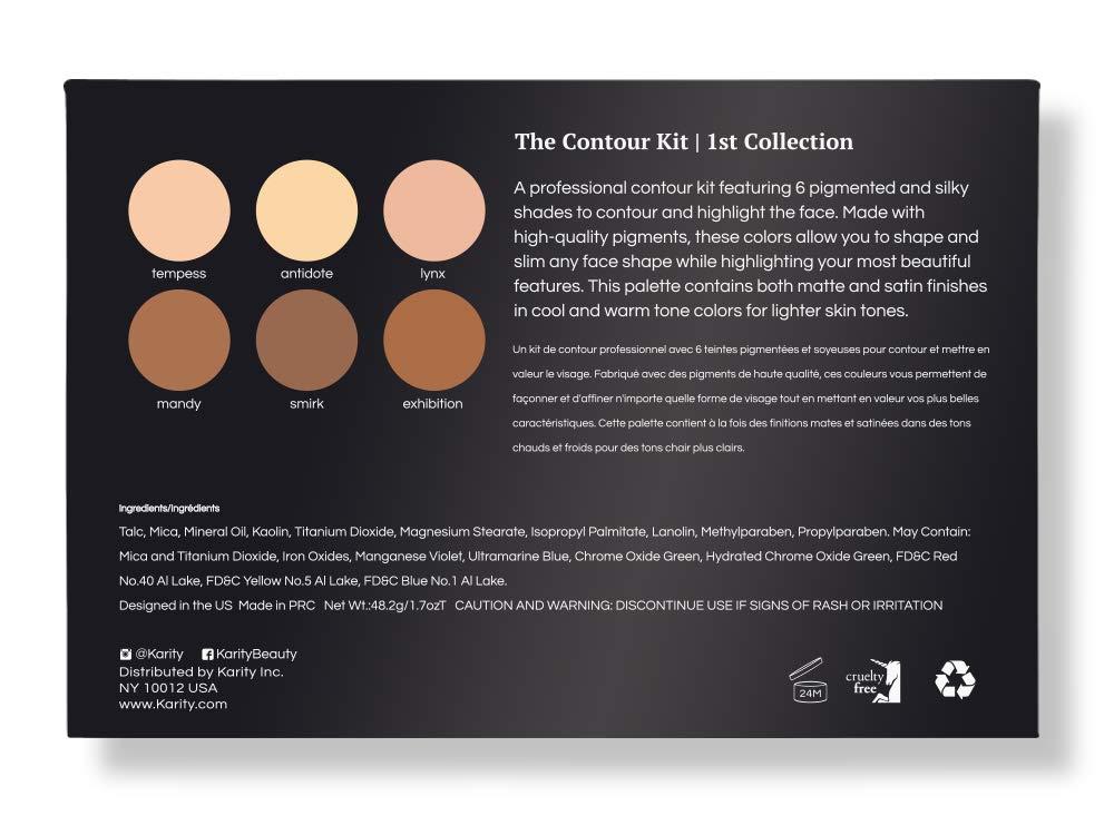 Contour Kit - 6 Pigmented Professional Contour Kit Makeup Palette Set Pro Palette High-end Formula (Highlight & Contour) - Step-by-Step Instructions Included by Karity (Image #4)