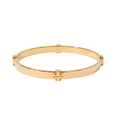 fb974e86304d5e Amazon.com: Tory Burch 11145909 720 Gold-Tone T Logo Bangle Bracelet:  Jewelry
