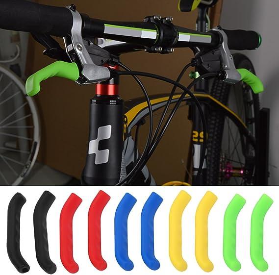 Tbest 2pcs Housse Manchon de Frein /à V/élos VTT Couvre Coque de Protection de Levier Frein en Silicone Antid/érapant Universel pour Bicyclette