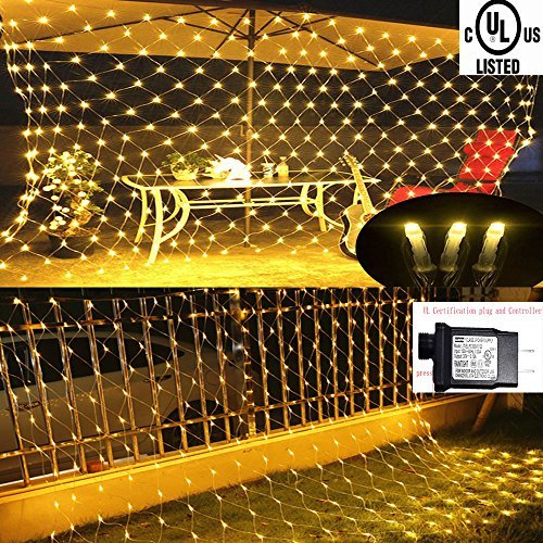 LED Net lights, 200 LED Fairy String Decorative Mesh Warm White For a Wedding Cocktail Party Birthday BBQ Bistro Cafe By Cheng Yu 2017