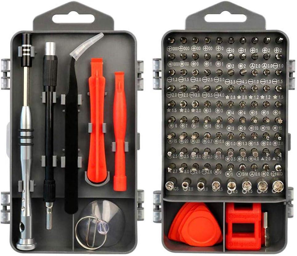 Juego de Destornilladores de Precisión - FAGORY 115 en 1 Destornilladores de Precisión Kit de Reparación Herramientas Profesional para Arreglar Teléfono Celular, Laptops, Gafas, Reloj, TV, Cámara: Amazon.es: Bricolaje y herramientas