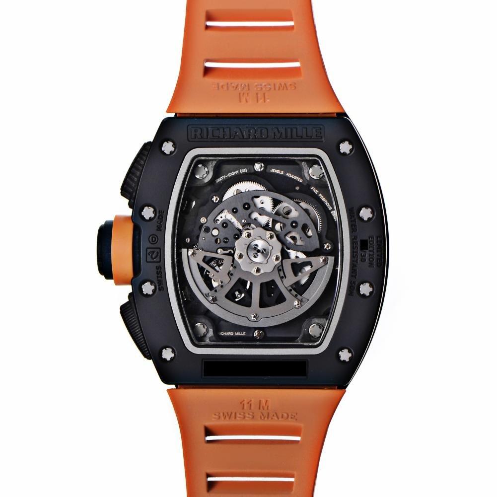 Richard Mille automatic-self-wind Negro Reloj para hombre rm011 AO ca-tzp (Certificado de segunda mano): Richard Mille: Amazon.es: Relojes