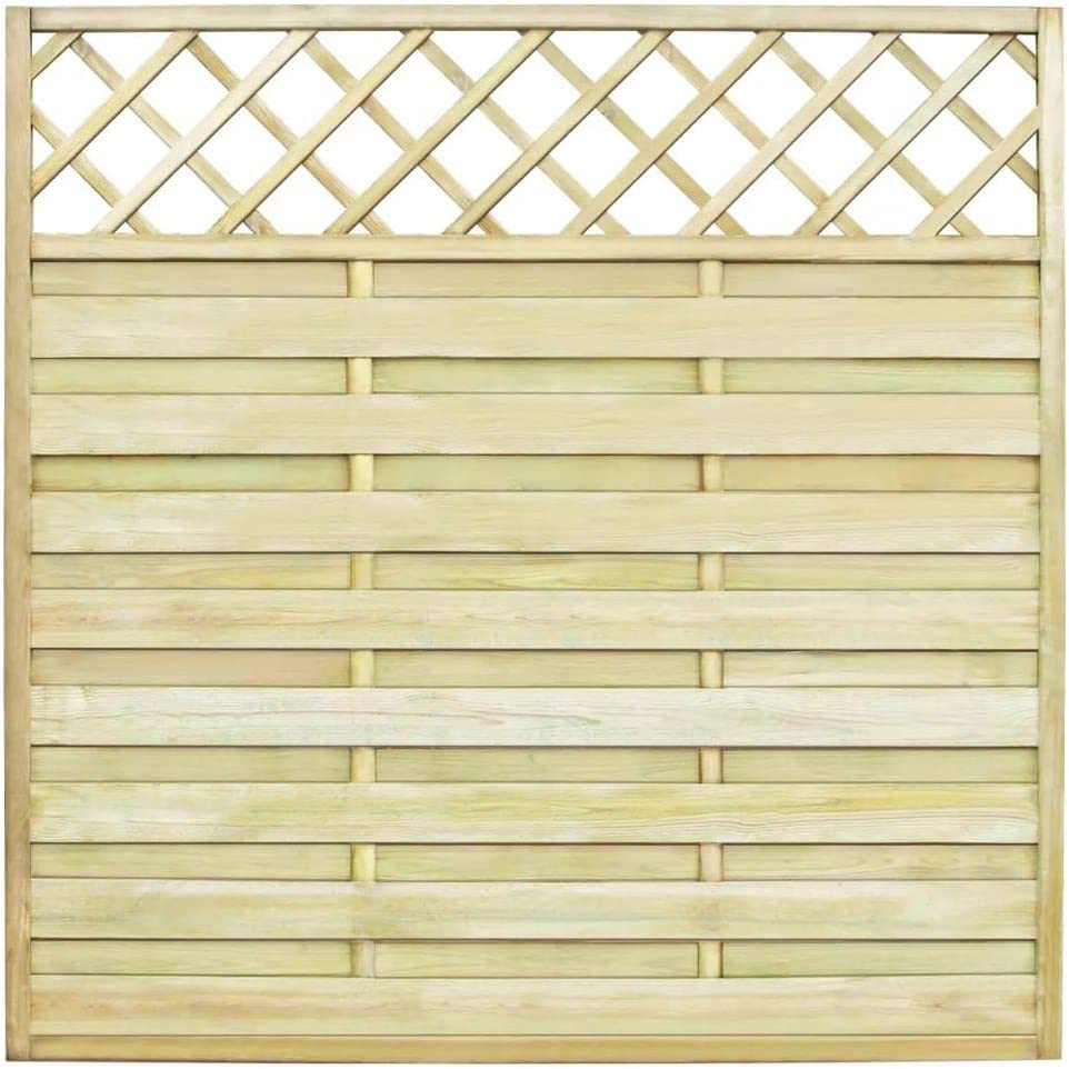 6ft x 6ft Square Top Privacy Trellis Lattice Fence Panels TREATED RRP £55