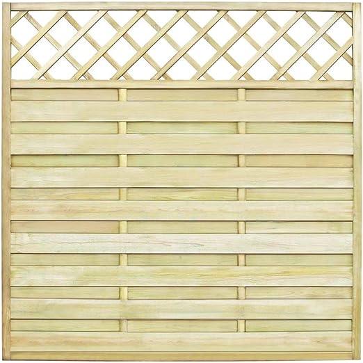 tiauant Bricolaje Vallas de jardín Paneles de Vallas Panel Cuadrado de Valla para Jardin 180 x 180 cm Madera vallas0: Amazon.es: Jardín