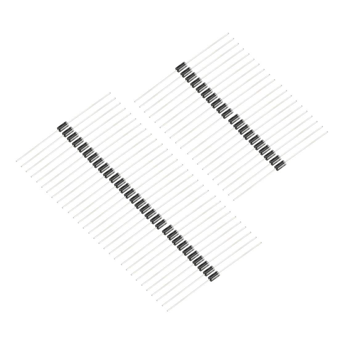 uxcell HER103 Rectifier Diode 1A 300V Axial Electronic Silicon Diodes 80pcs