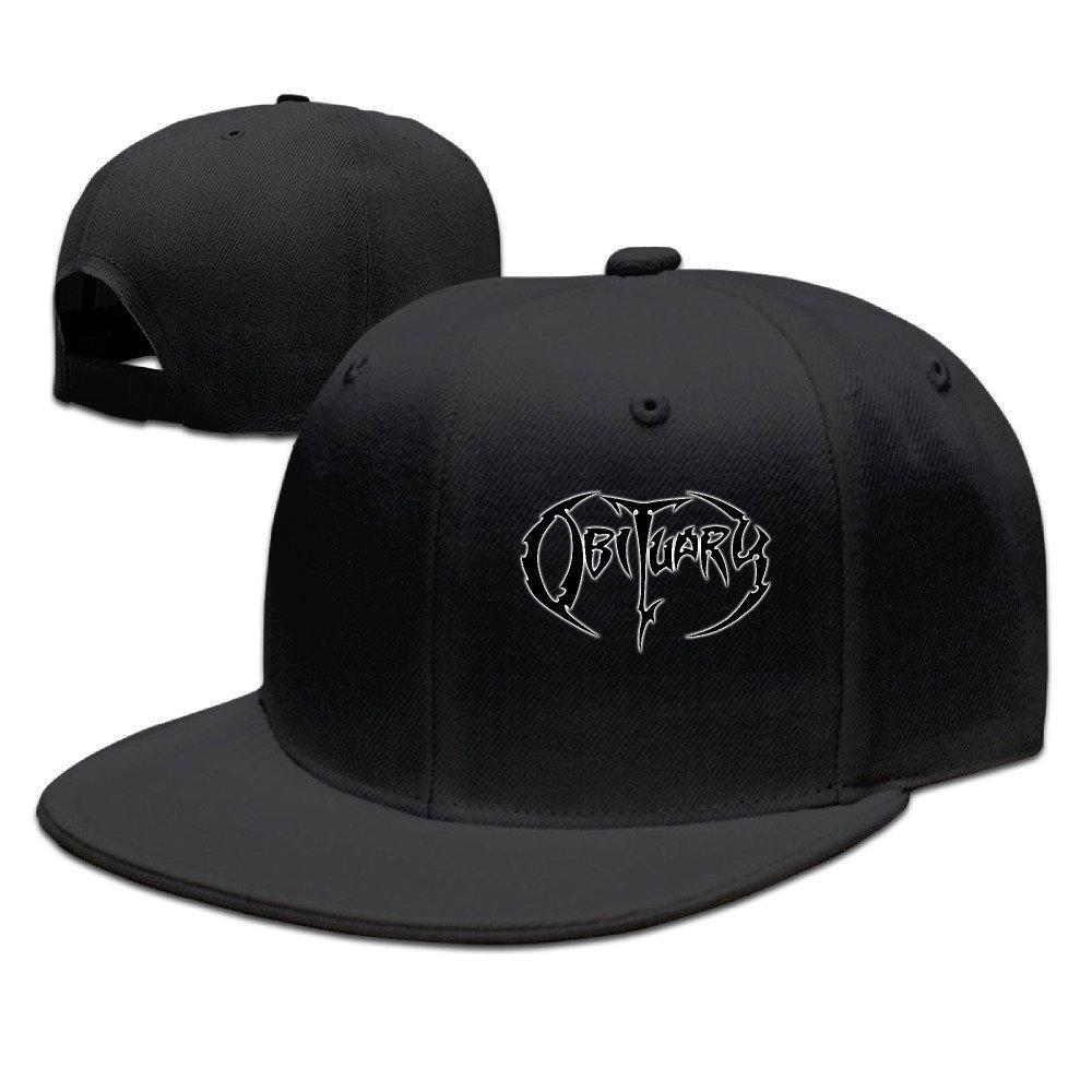 Yhsuk Obituary Band Unisex Fashion Cool Adjustable Snapback Baseball Cap Hat One Size Black