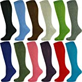 Mysocks Knee High Merino Wool Socks Plain 12 Pairs