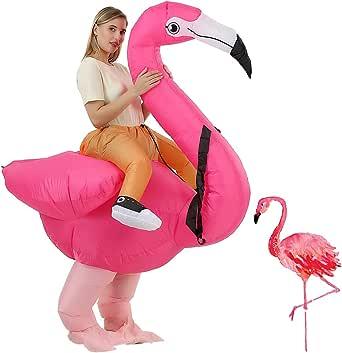 bestsight Inflatable Flamingo Camel Cock Horse Chimpanzee Costume Adutls Ride On Halloween Costume Cosplay