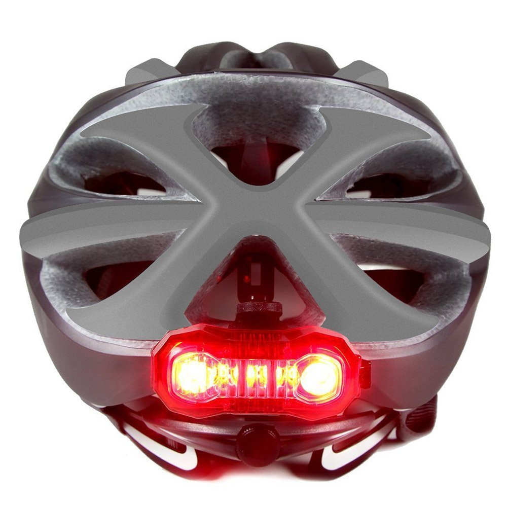 LE USB CREE LED Super Bright Bike Rear Tail Light 5 Lighting Modes Easy Install Red Safety Cycling Light - Fits on Any Bicycles Helmet Backpack by Lighting EVER (Image #7)