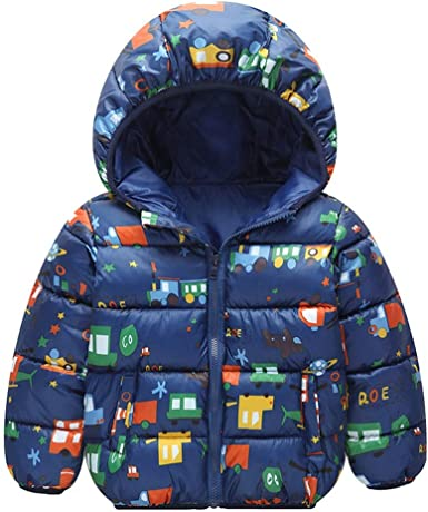 Toddler Baby Girls Boys Winter Leopard Print Warm Jacket Hooded Windproof CoatUK