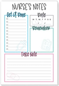 Tiny Expressions - Nurse Appreciation Notepads | Nursing Gifts & Office Supplies | 50 Tear Away Sheets on Premium Paper Made in the USA | Cute Medical Agenda Set