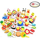 38 PCs Japanese Puzzle Kitchen Food Erasers Value Pack Puzzle Toys Best for Party Favors