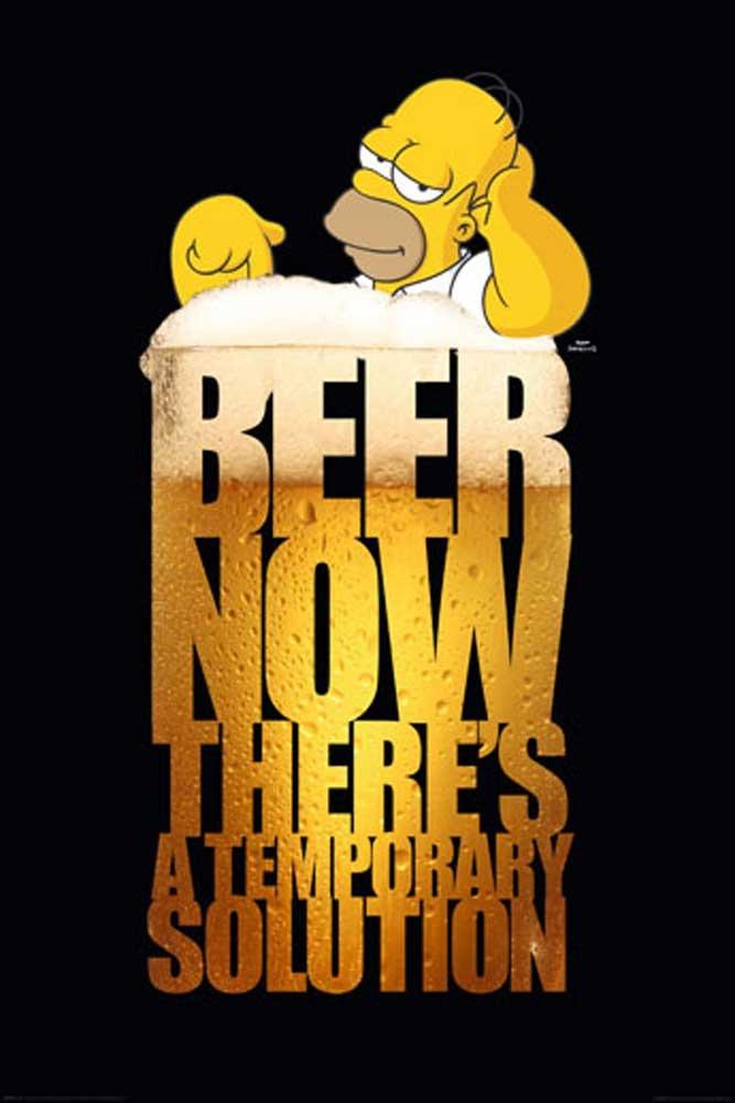 Póster de Homer Simpson con accesorio solución cerveza negrohttps://amzn.to/2A2IvrK