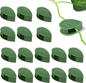 Genenic 50PCS Plant Climbing Wall Fixture Clips,Leaf Shape Clip Plant Fixer,self-Adhesive Hook,Wire Organization,Cable Finishing,Gift Invisible Bracket