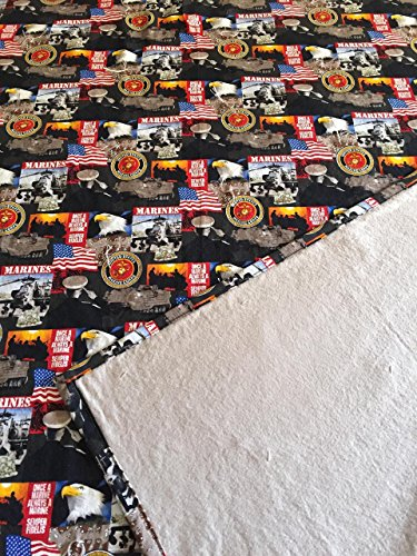 United-States-Marines-Lap-Blanket-Quilt-with-soft-flannel-on-the-back-side-FREE-SHIPPING-on-any-order-2-Flannel-Color-Choices-Hand-tied-and-machine-stitched-Oorah